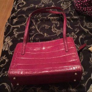 Monsac purse made of alligator skin